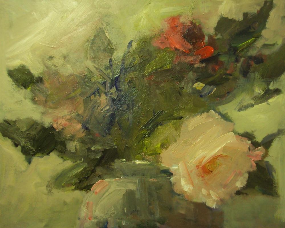 """December rose"" original fine art by Parastoo Ganjei"