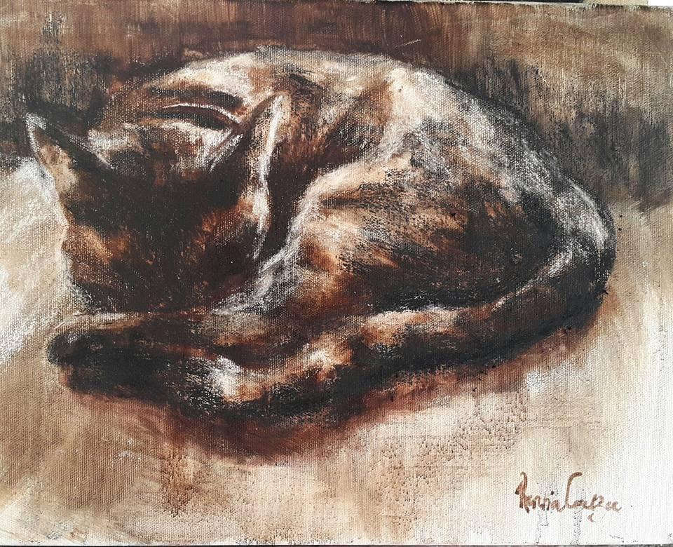 """Lying in"" original fine art by Rentia Coetzee"