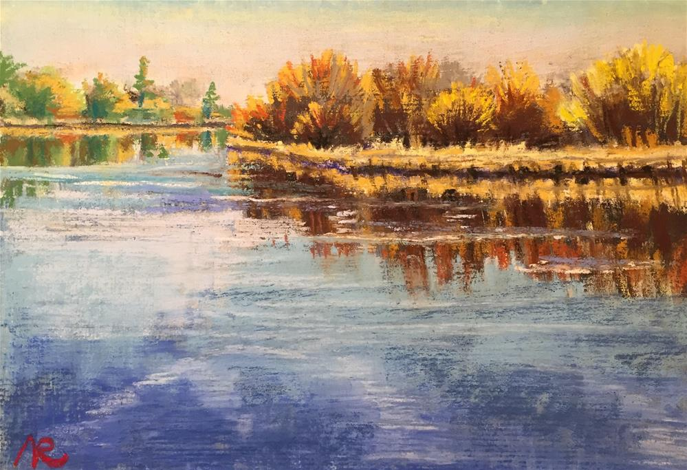 """Along the Bend river"" original fine art by Natasha Ramras"