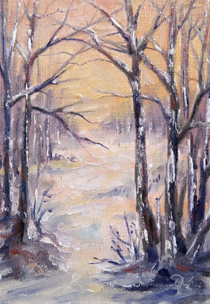 """Winter Beckons"" original fine art by Tammie Dickerson"