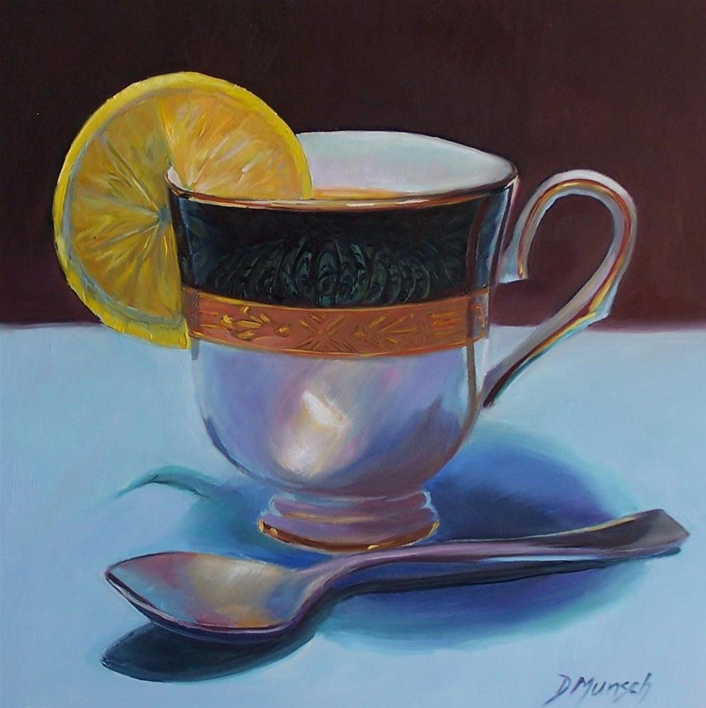 """""""Tea and Lemon"""" original fine art by Donna Munsch"""