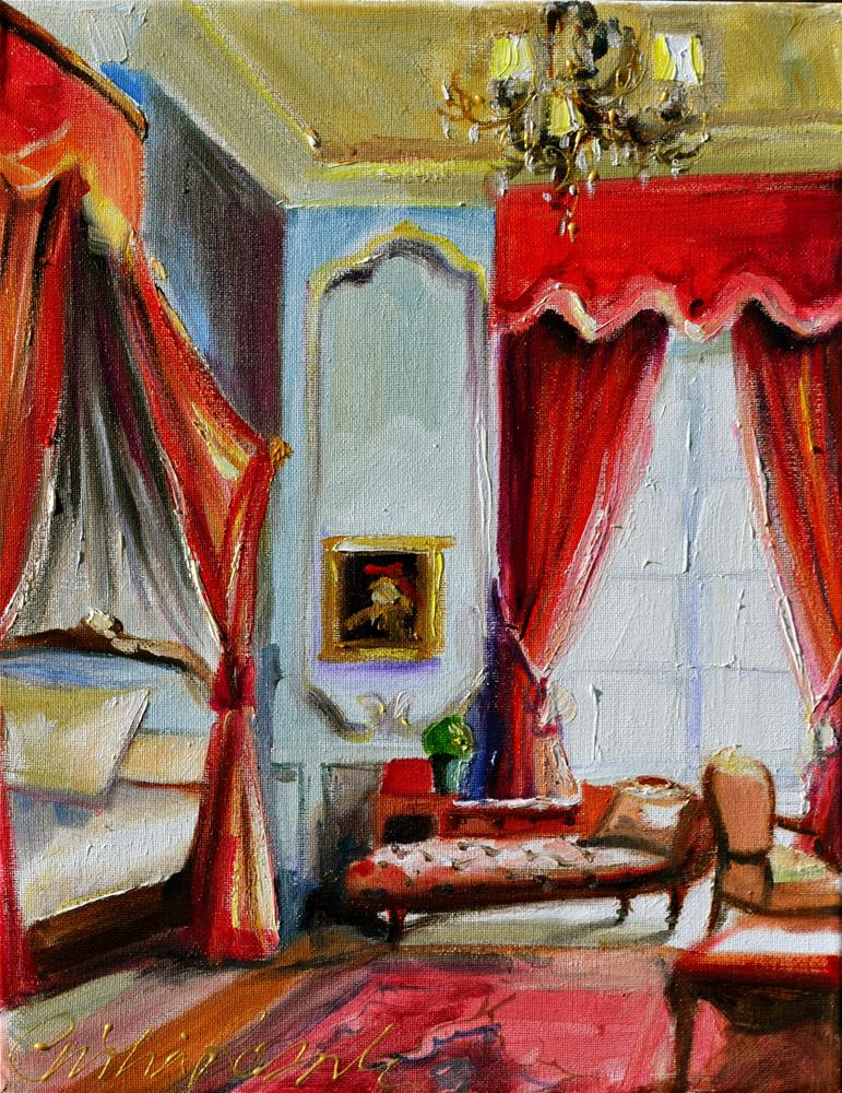 """ROOI SLAAPKAMER"" original fine art by Cecilia Rosslee"