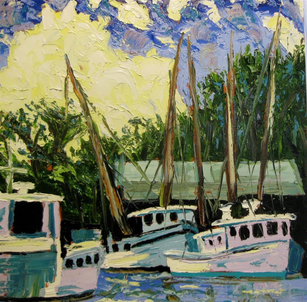 """Shrimp Boats"" original fine art by Darryl Freeman"
