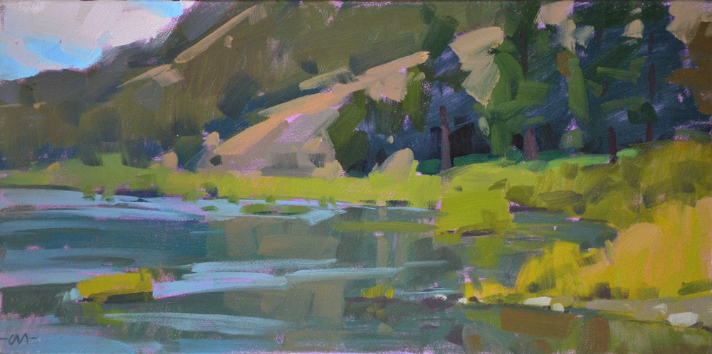 """Umpqua River"" original fine art by Carol Marine"