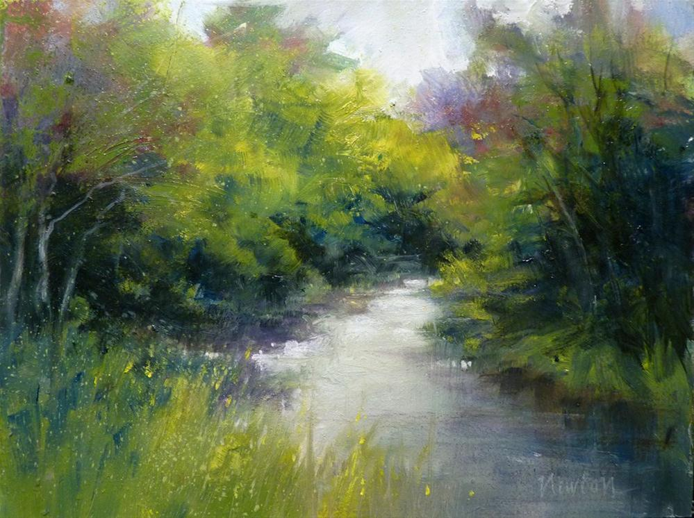 """Spring Stream"" original fine art by Barbara Benedetti Newton"