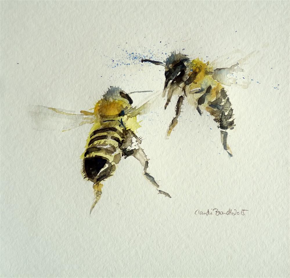 """bees"" original fine art by Claudia Brandt"