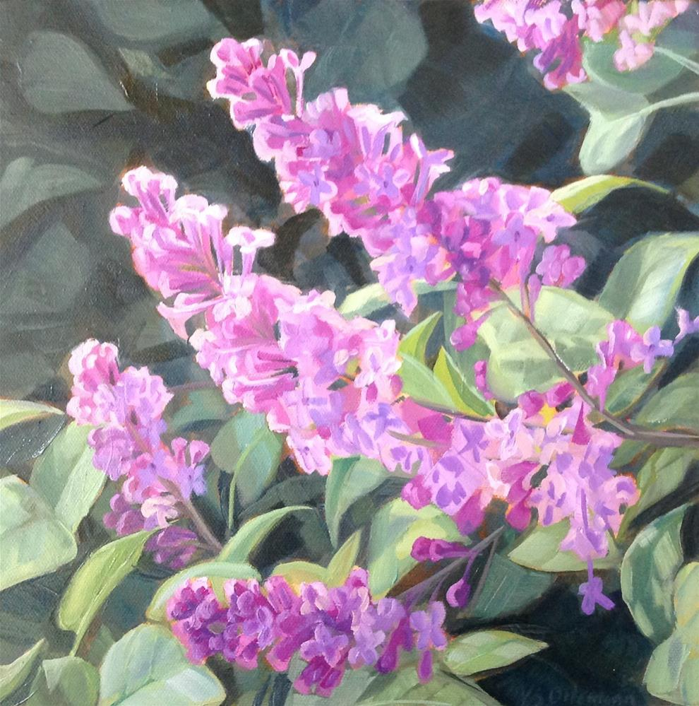 """Old Fashioned Lilacs"" original fine art by Valerie Orlemann"