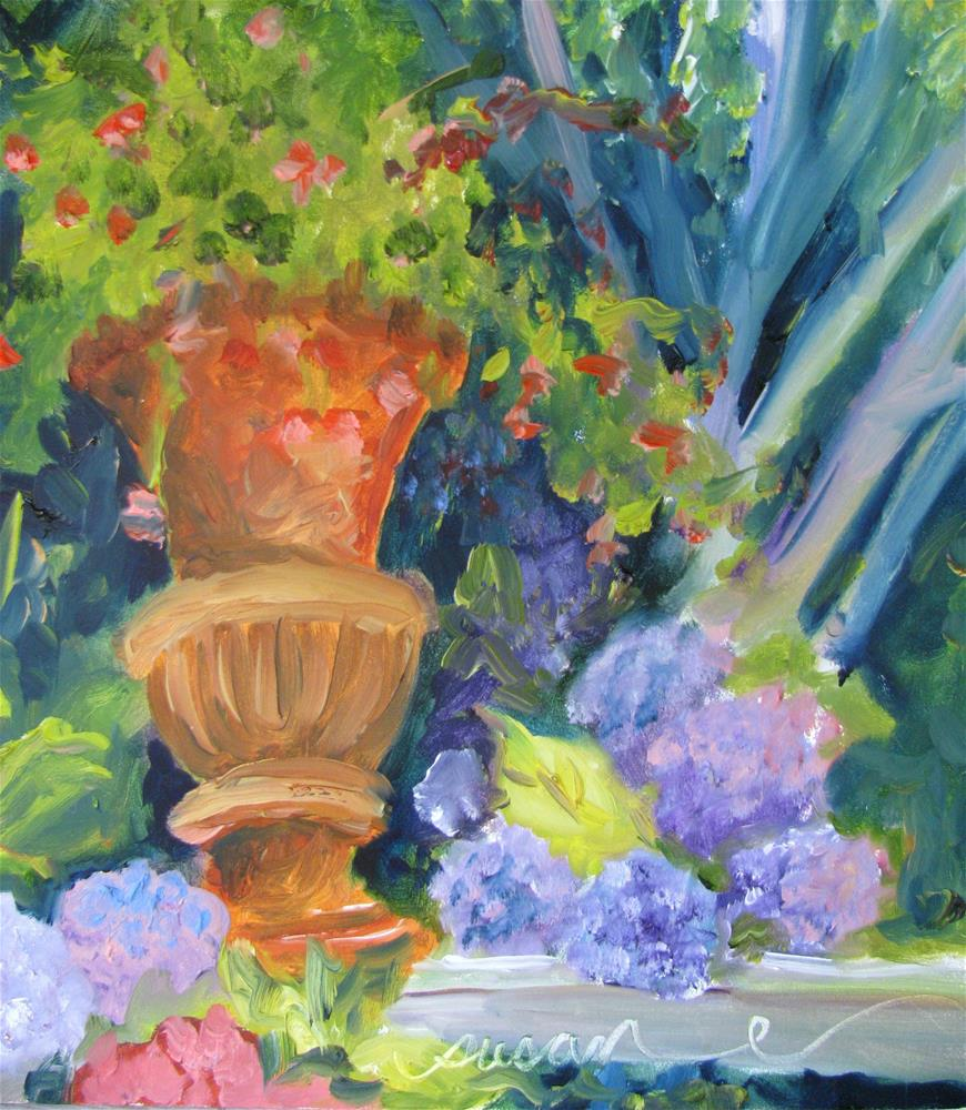 """Formal Garden"" original fine art by Susan Elizabeth Jones"