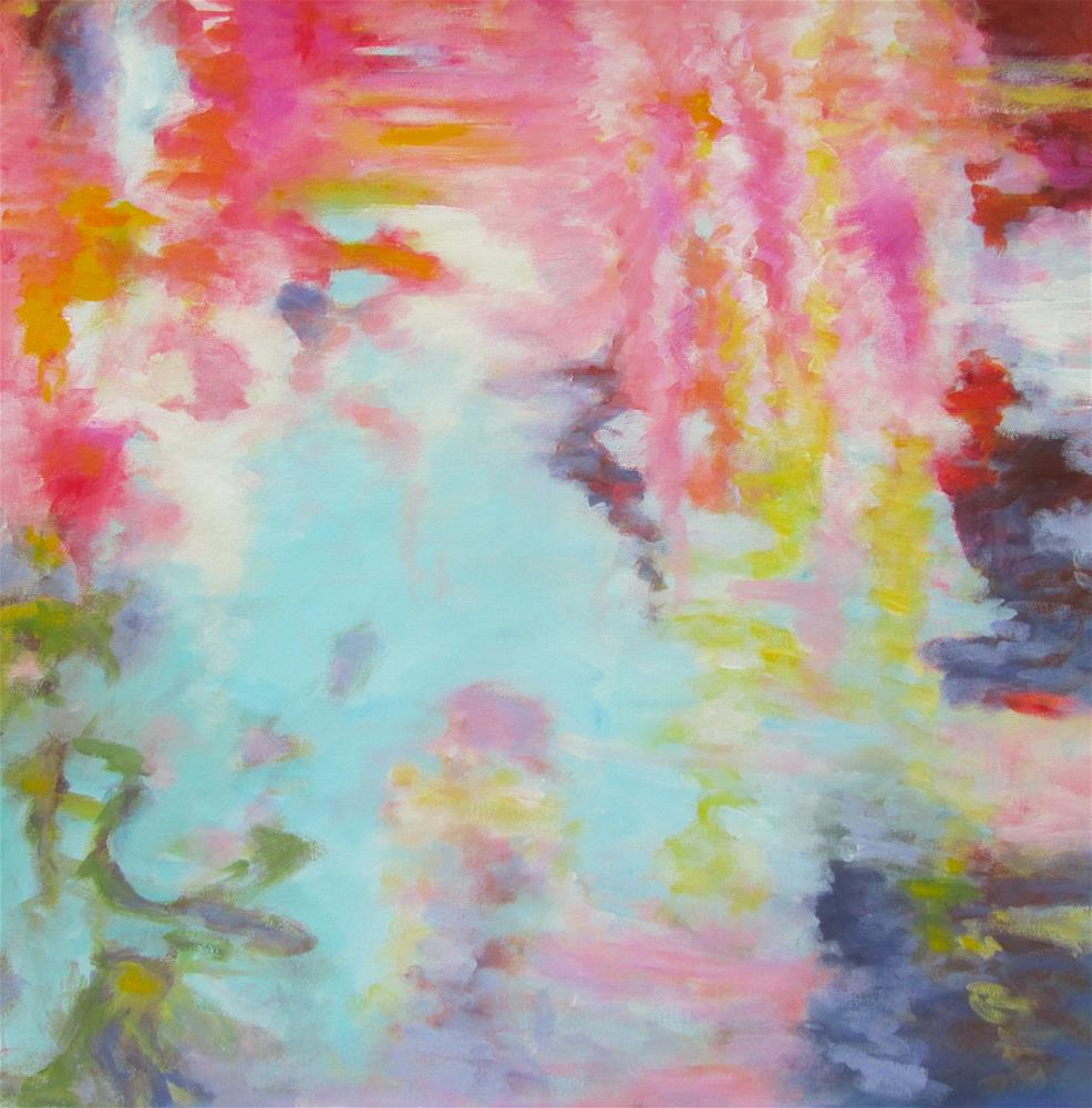 """Water Reflections- Abstract Three"" original fine art by Patricia MacDonald"