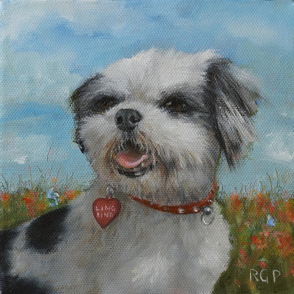 """Custom Pet Portrait"" original fine art by Rhea  Groepper Pettit"