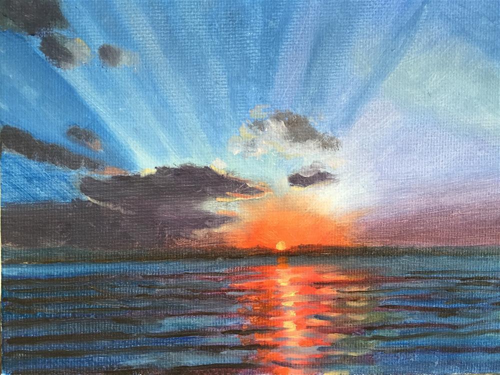 """Sunrise"" original fine art by Jiani Shan"