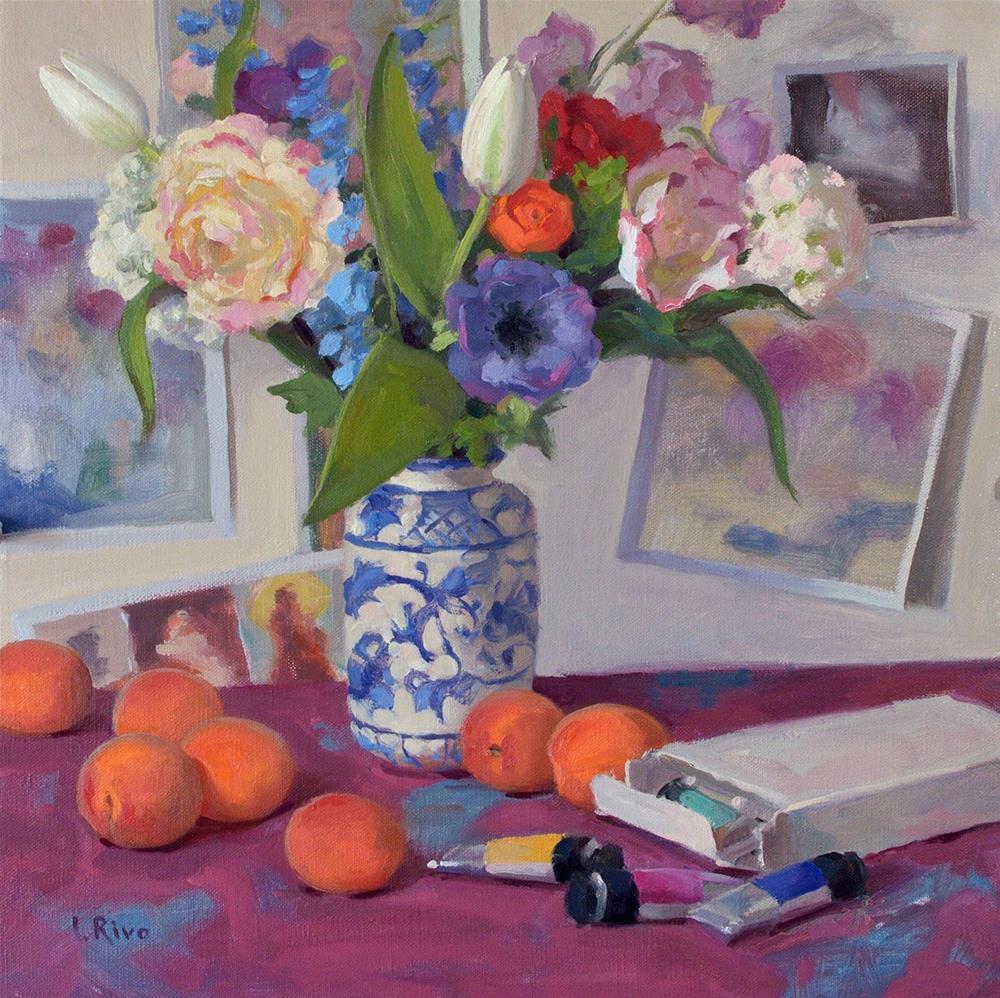 """Sweet Apricots"" original fine art by Lena  Rivo"