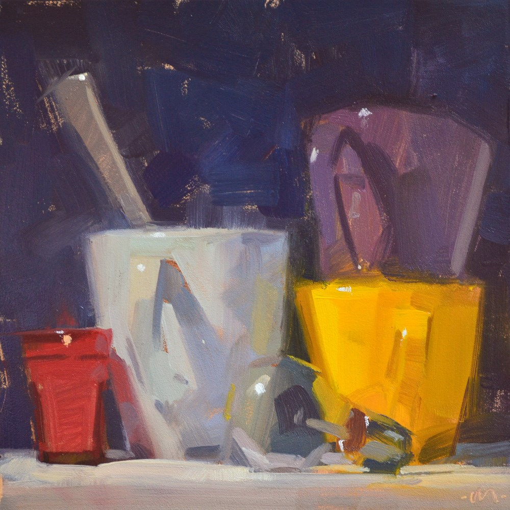 """Light and Cups"" original fine art by Carol Marine"