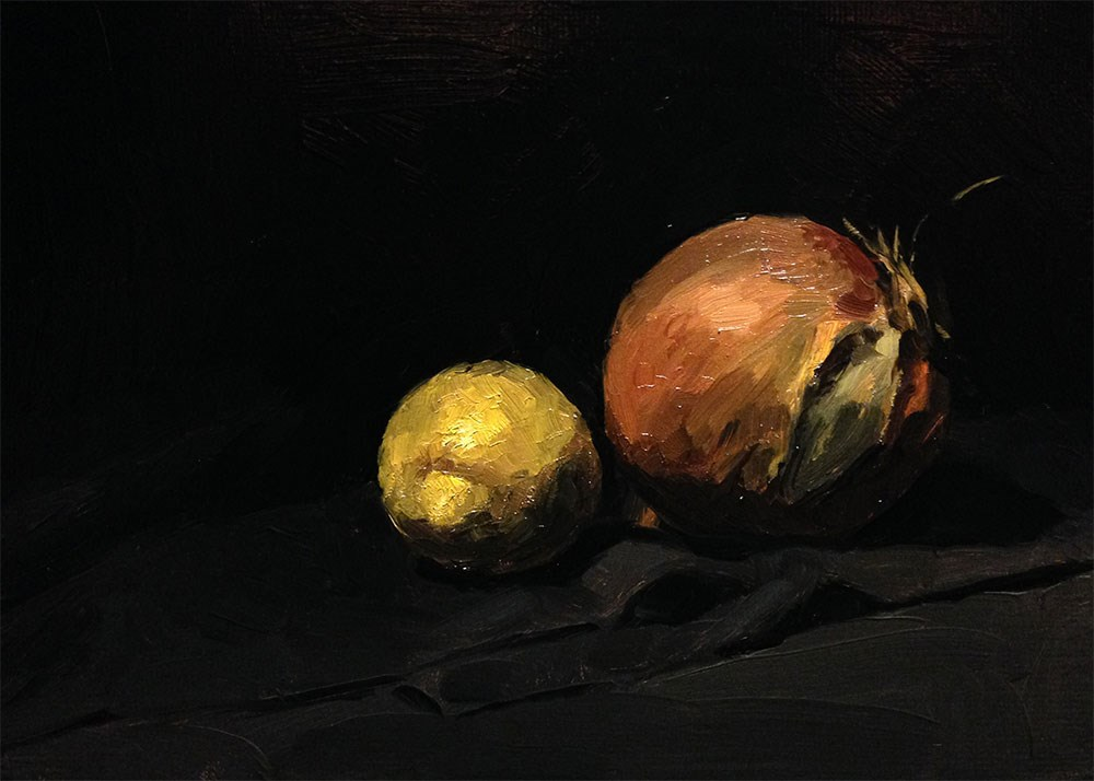 """Lemon, Onion"" original fine art by Chris Beaven"