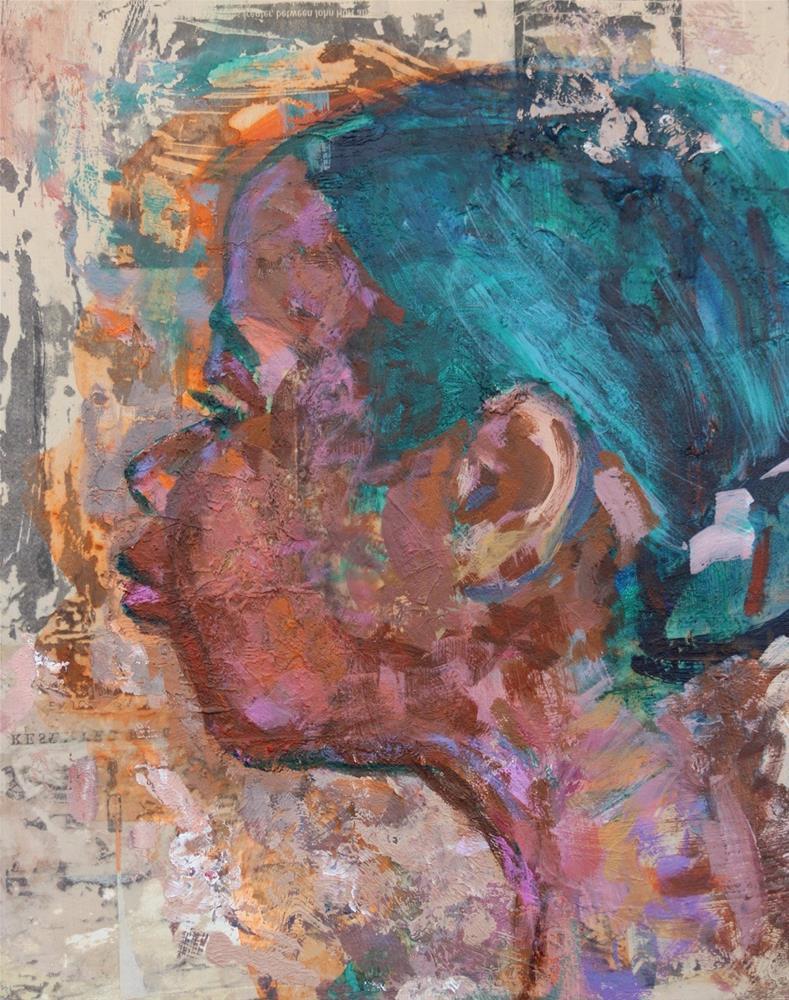 """""""Portrait of a Woman"""" original fine art by Christine Parker"""