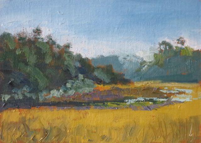 """Marsh at First Light"" original fine art by Lucinda Howe"