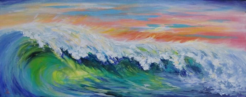 """3121 - Luminous Breaker - Exhibition Size"" original fine art by Sea Dean"