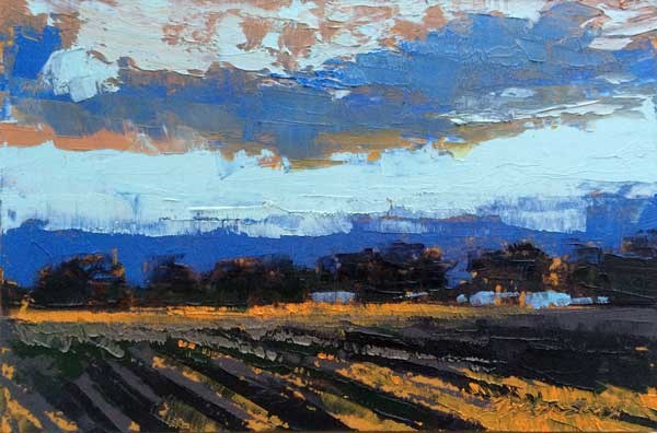 """Fall, Evening Sky"" original fine art by Mary Gilkerson"