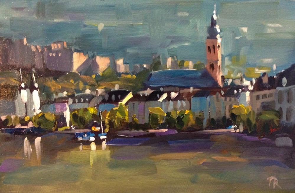 """""""Heidelberg October"""" original fine art by Thomas Ruckstuhl"""