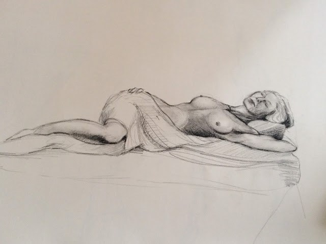 """Figure studies"" original fine art by Hilary J. England"
