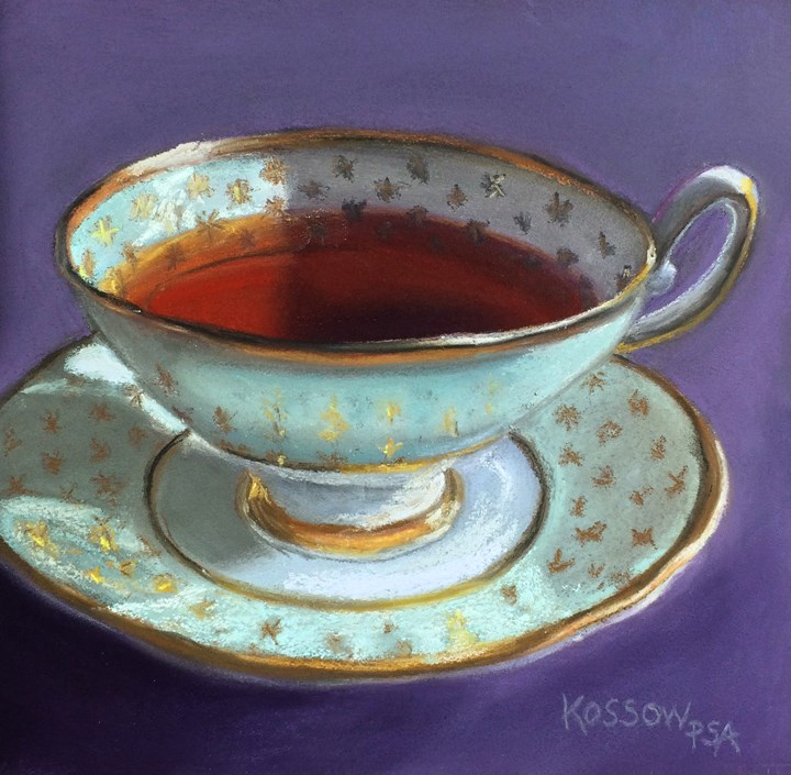 """Celadon Star Cup"" original fine art by Cristine Kossow"