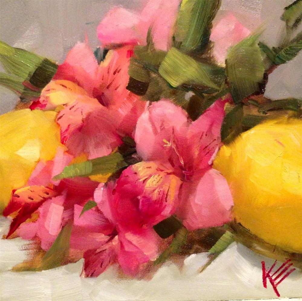 """""""Lemons & Astros II"""" original fine art by Krista Eaton"""