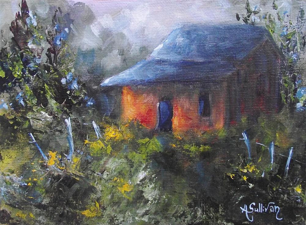 """The Woods Surround Me"" original fine art by Angela Sullivan"