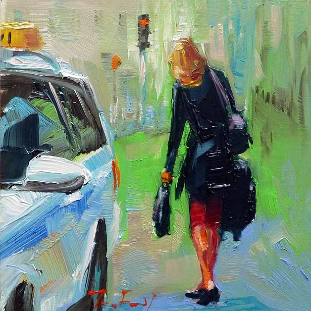 """""""Auf dem Weg zur Arbeit"""" original fine art by Jurij Frey"""