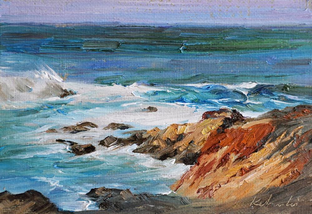 """California Coast - Big Sur"" original fine art by Kelvin Lei"