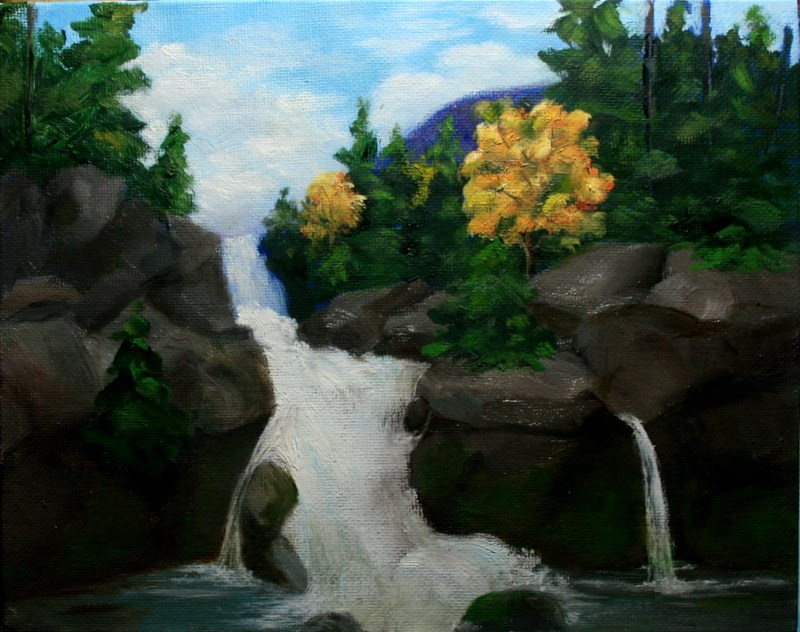 """Falls in Fall"" original fine art by Jean Nelson"