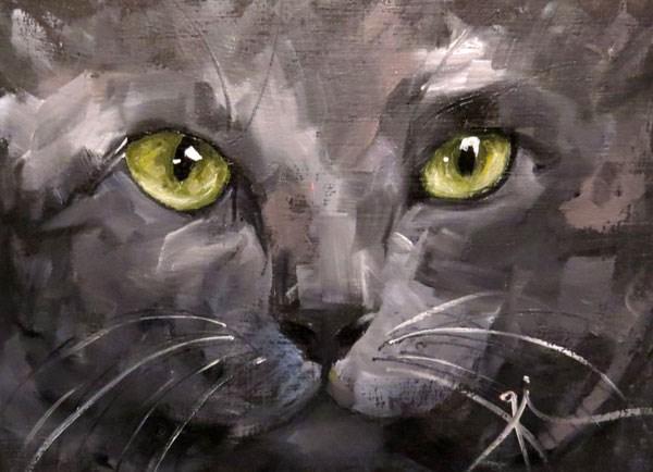 """""""Cat Eyes"""" original fine art by Gigi De"""