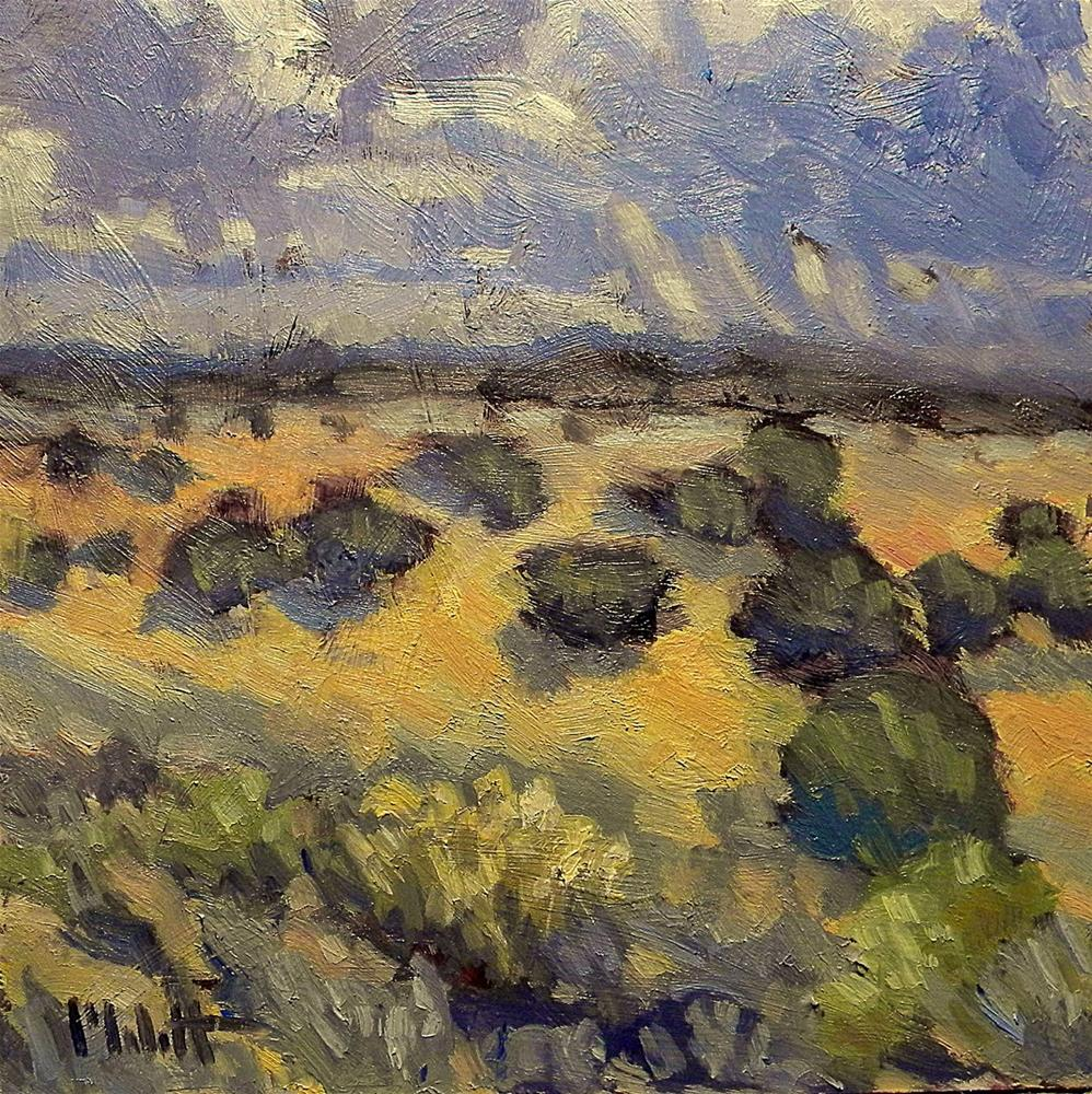"""Stormy Skies Southwest Landscape Contemporary Impressionism"" original fine art by Heidi Malott"