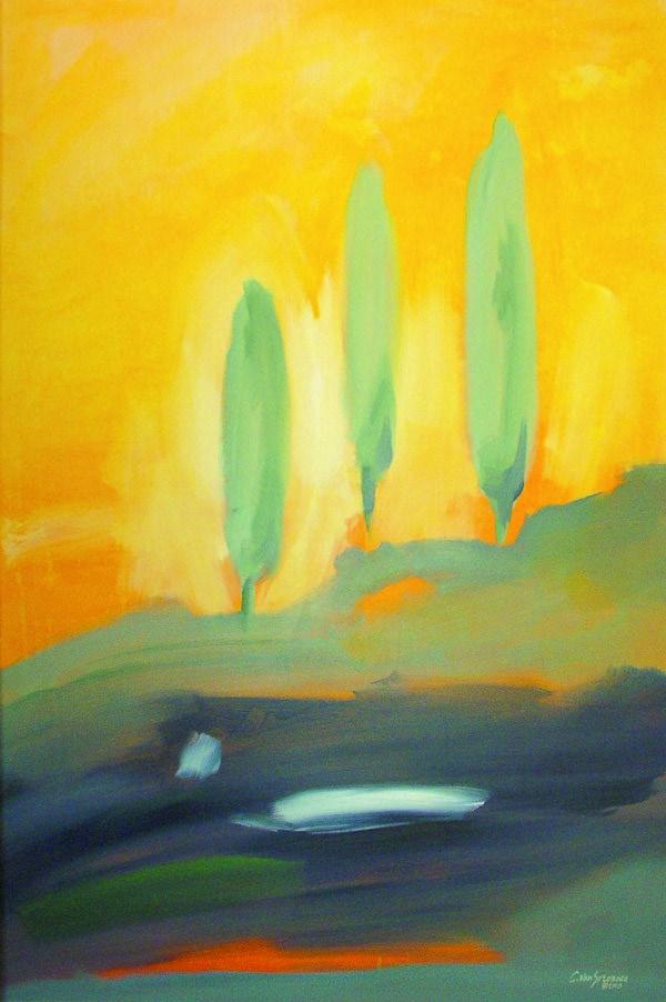 """Tuscan Trilogy"" original fine art by Cornelis vanSpronsen"