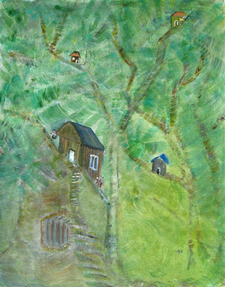 """Up In The Tree"" original fine art by Alina Frent"