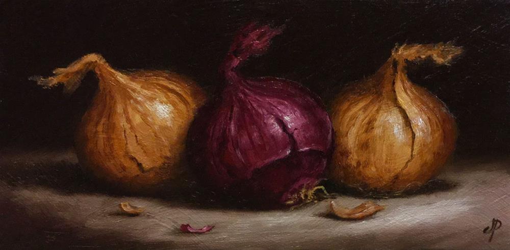 """Onions"" original fine art by Jane Palmer"