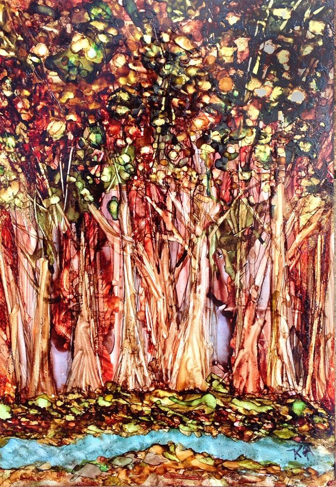 """Thicket by the Brook"" original fine art by Kris Alge"