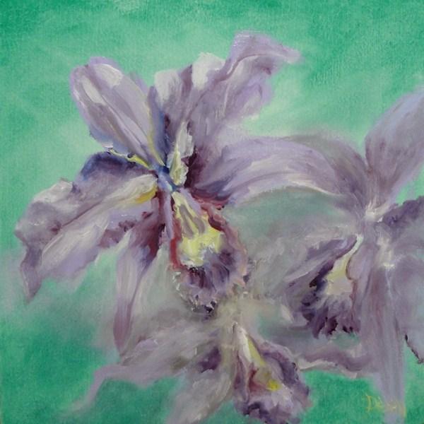 """Purple Orchids"" original fine art by Dalan Wells"