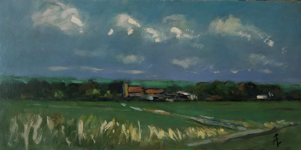 """West Sussex Farmland"" original fine art by Andre Pallat"