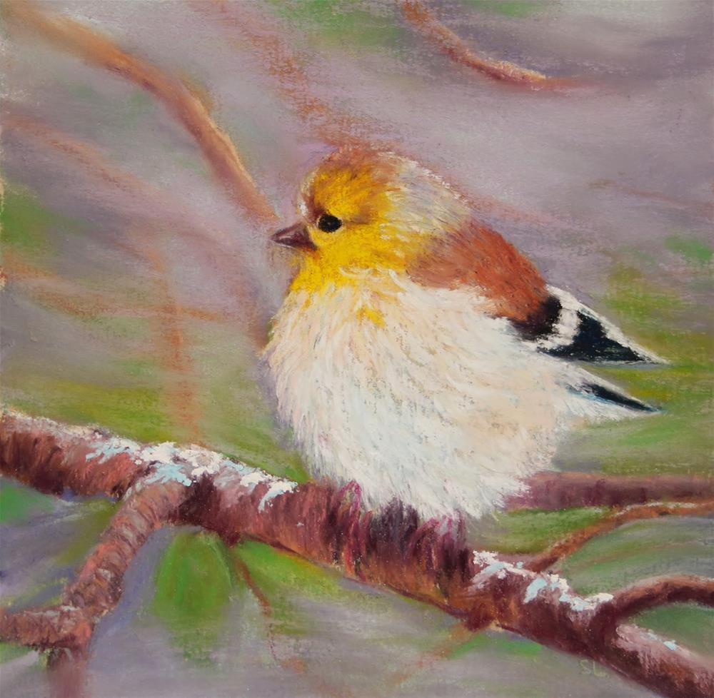 """Do These Feathers Make Me Look Fat?"" original fine art by Sharon Lewis"