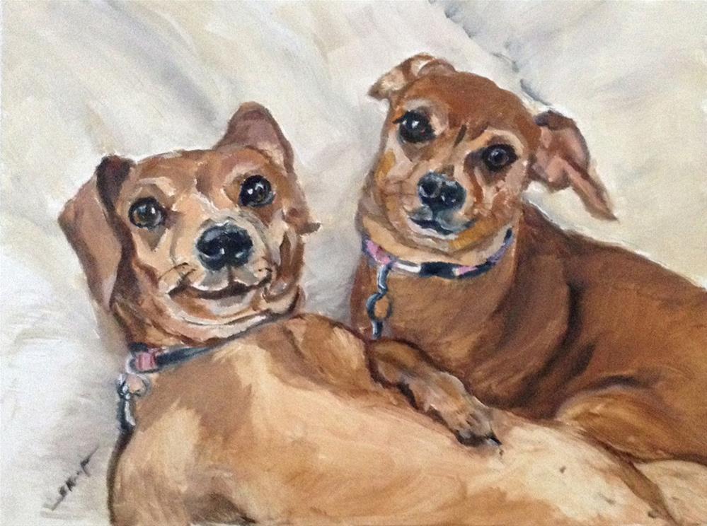 """""""Lynda and Ally, Taking Five"""" original fine art by Shelley Koopmann"""