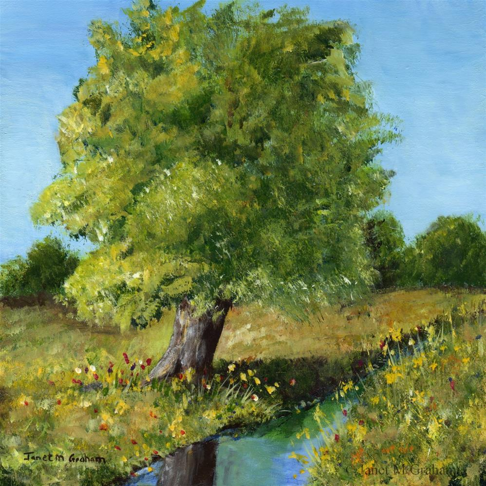 """Country Tree"" original fine art by Janet Graham"