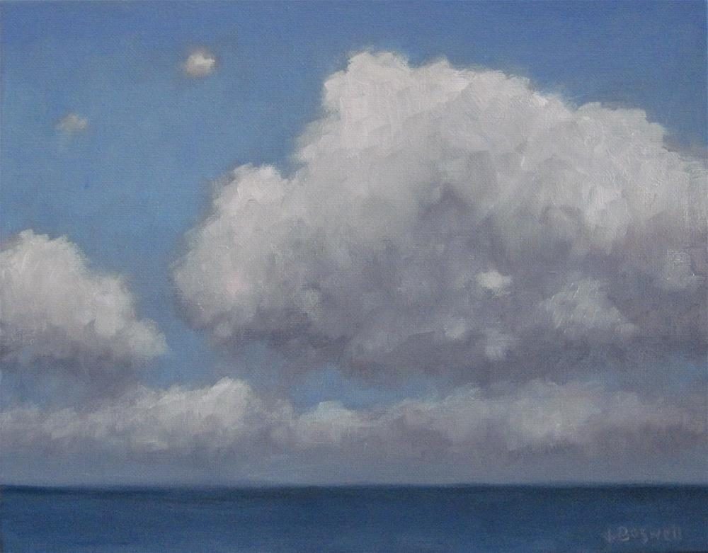 """Peaceful Clouds Series 3"" original fine art by Jennifer Boswell"