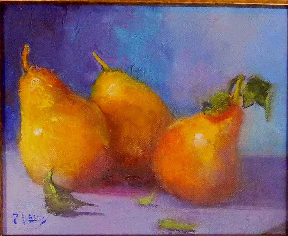 """Golden Fruit"" original fine art by Phyllis Davis"