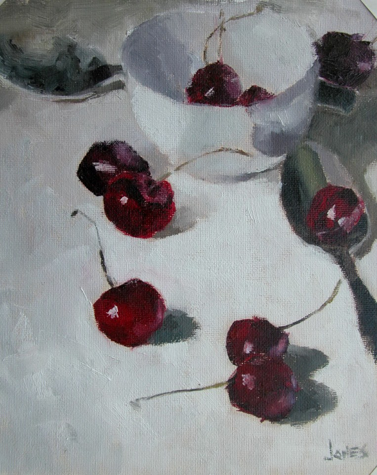 """Cherries"" original fine art by Richard Jones"