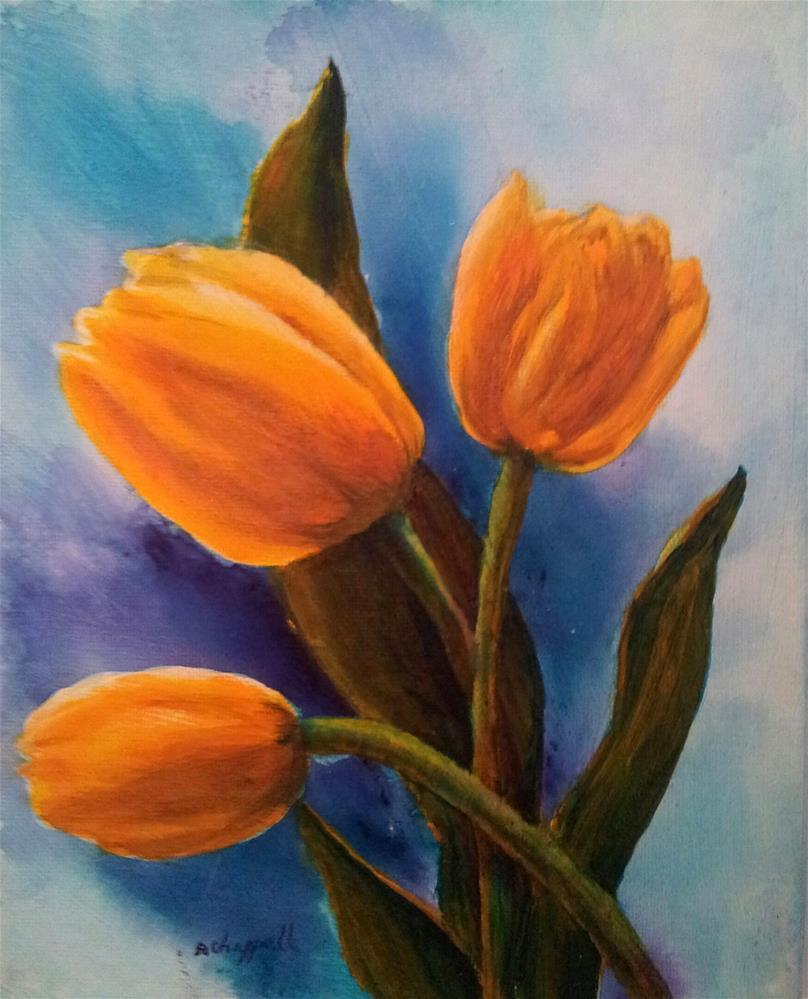 """Sunda's Tulips"" original fine art by Becky Chappell"