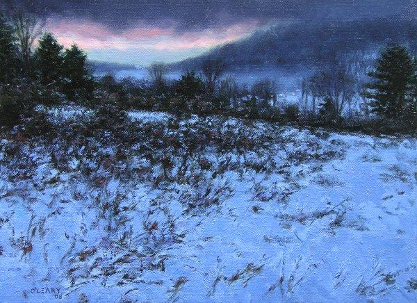 """Misty Valley Dawn"" original fine art by Danny O'Leary"