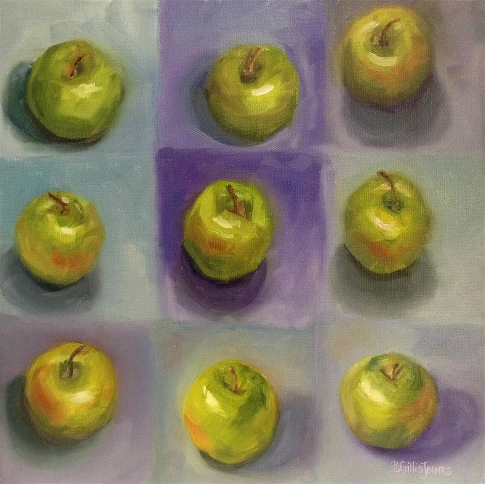 """Apples Squared"" original fine art by Barbara Gillis Joines"
