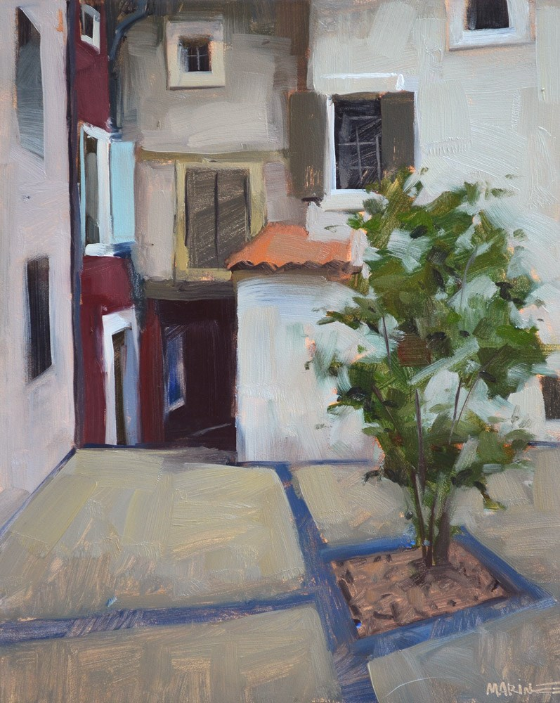 """A Small Courtyard"" original fine art by Carol Marine"
