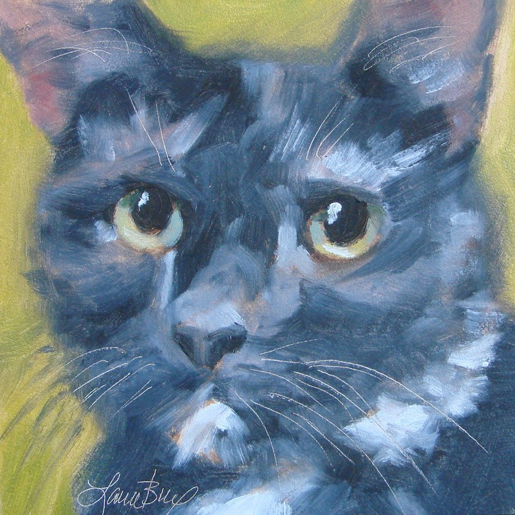 """Fritz - 371"" original fine art by Laura  Buxo"