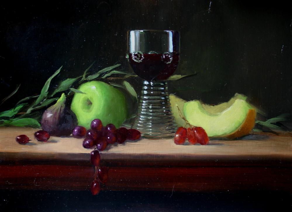 """""""Roemer and Fruit"""" original fine art by Liz Balkwill"""